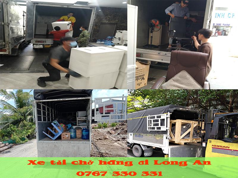Dịch vụ xe tải chở hàng đi Long An